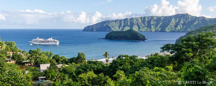 Photographies de la Polynésie: baie d'Atuona à Hiva Oa aux îles Marquises