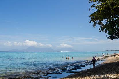 Plage PK18 à Tahiti
