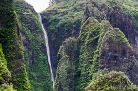Cascade de Vaipo dans la vallée de Hakaui à Nuku Hiva