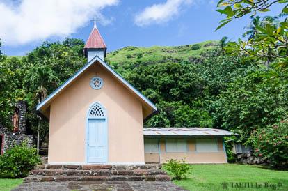 Chapelle de Hooumi à Nuku Hiva