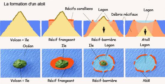Formation des atolls