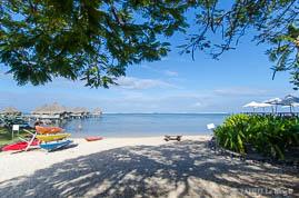 Plage de l'Hôtel Méridien à Tahiti