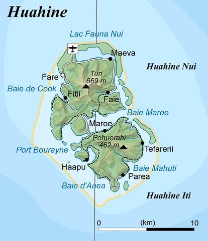 Carte de Huahine