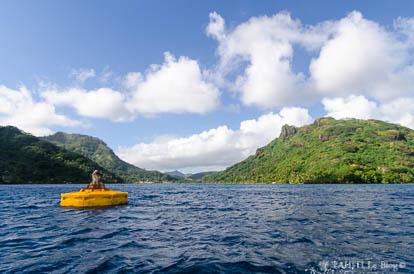 Huahine Nui vue du lagon