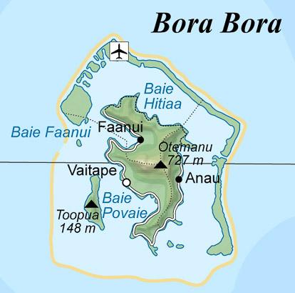 Carte de Bora-Bora