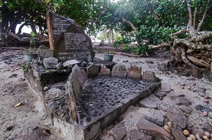 Marae royal de Vaiahu à Maupiti