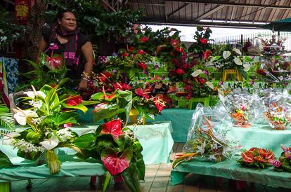 Marché aux fleurs de Papeete à Tahiti