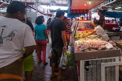 Poissonnerie du marché de Papeete à Papeete
