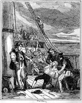 La mutinerie de Fletcher Christian sur la Bounty