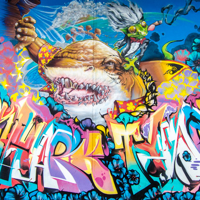 Street art et graffiti à Tahiti : Adnate Abuz Berst et Nilko