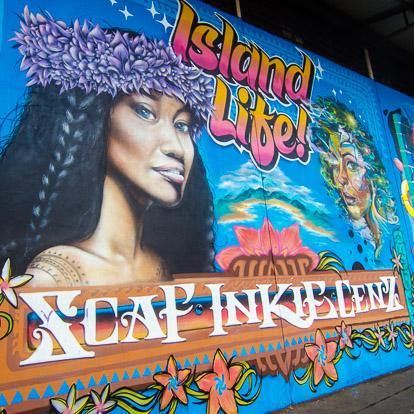 Street art et graffiti à Tahiti : Berst Nilko Scaf Inkie et MrCenz