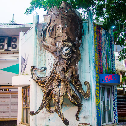 Street art et graffiti à Tahiti : Bordalo