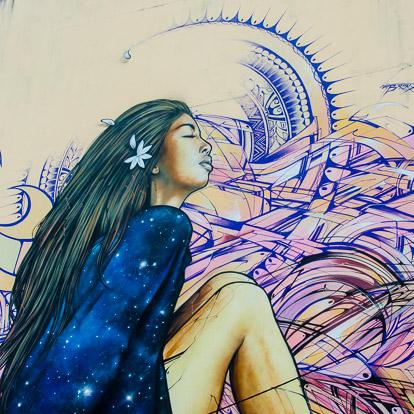 Street art et graffiti à Tahiti : Brok Alex et Hopare