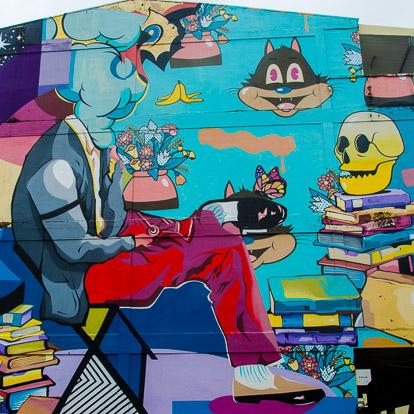 Street art et graffiti à Tahiti : Dabs et Myla