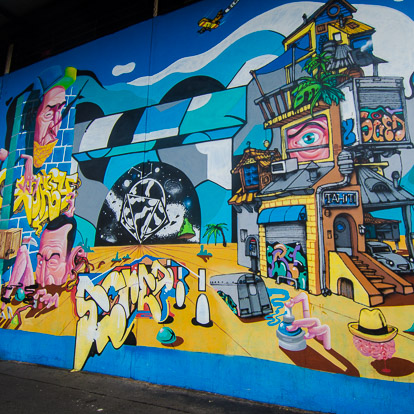 Street art et graffiti à Tahiti : Gorey Scred et Gent48
