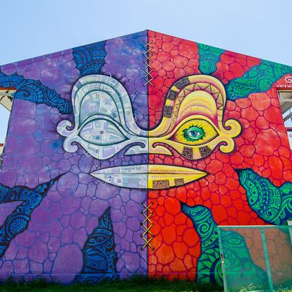 Street art et graffiti à Tahiti : HTJ