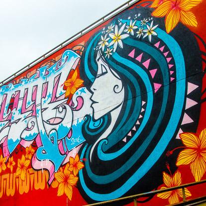 Street art et graffiti à Tahiti : Inkie
