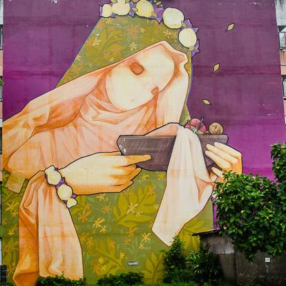 Street art et graffiti à Tahiti : Inti