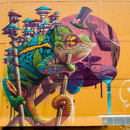 Street art et graffiti à Tahiti : Kalouf et Mr ZL