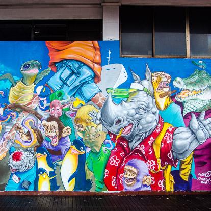 Street art et graffiti à Tahiti : Niko
