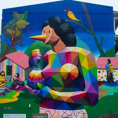 Street art et graffiti à Tahiti : Okuda