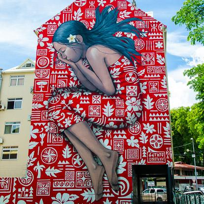Street art et graffiti à Tahiti: SETH et HTJ