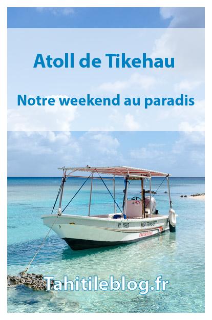 Voyage à Tikehau. Nous avons découvert, sur un weekend, l'atoll de Tikehau aux Tuamotu en Polynésie français: lagon turquoise, îlots paradisiaques, plongée, accueil chaleureux à la pension de famille et tranquillité.