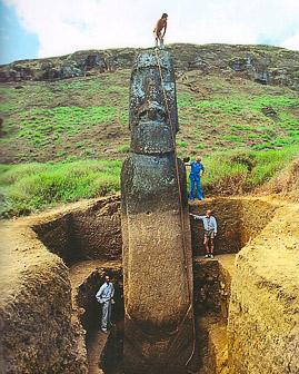 île de Pâques : la carrière des moai