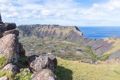île de Pâques : Rano Kau