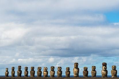 île de Pâques : moai de Tongariki