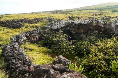 île de Pâques : grotte