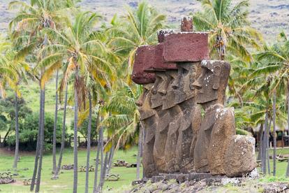 île de Pâques : Anakena et pukao