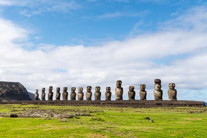 voyage sur l'île de Pâques : Tongariki