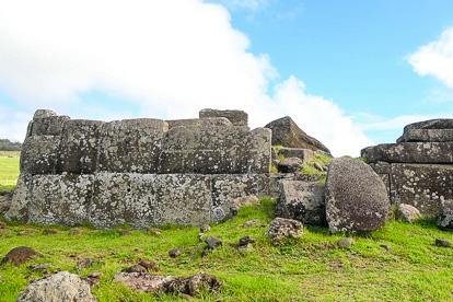 île de Pâques : plateforme à Vinapu