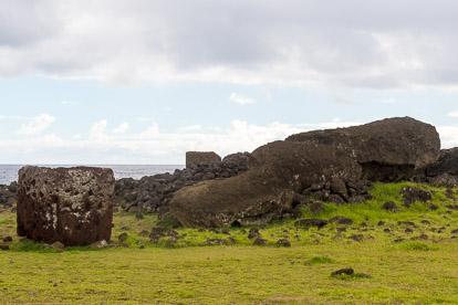 île de Pâques : Te Pito Kura le moai couché