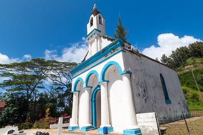 Gambier : chapelle Saint-Pierre à Rikitea sur Mangareva