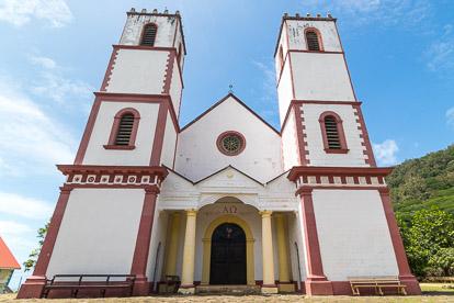 Gambier: cathédrale Saint Michel à Rikitea sur Mangareva