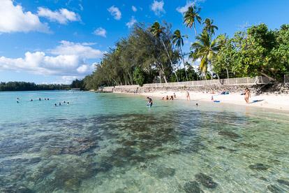 Moorea: plage de Tiahura