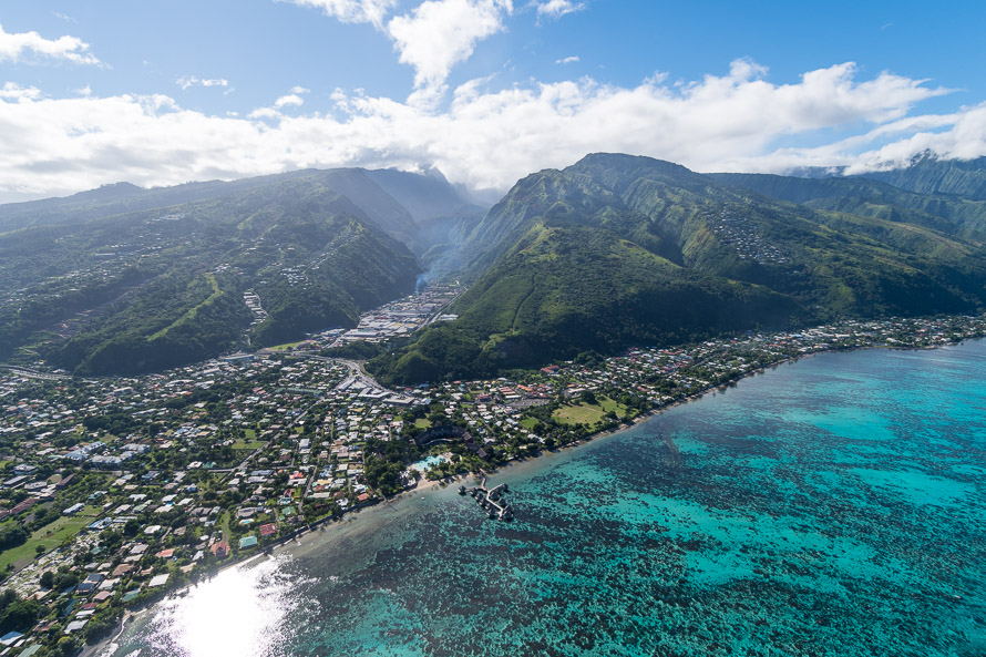 Tour en hélicoptère à Tahiti: Punaauia