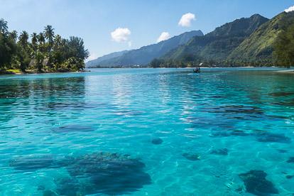 Photos de la Polynésie française : lagon de Moorea