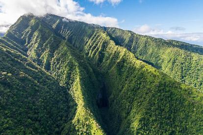 Vol en hélicoptère à Tahiti: la montagne