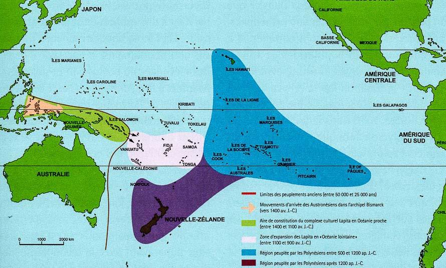 Peuplement de la Polynesie et Melanesie