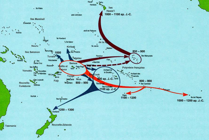 Peuplement de la Polynesie orientale